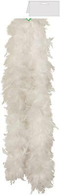 White Feather Boa  Burlesque Hen Night Dance Soft Fancy Dress Costume Accessory
