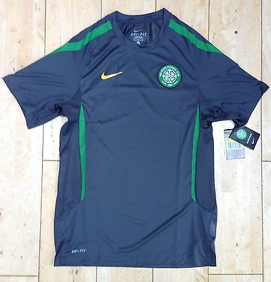 Nike Mens Celtic FC Short Sleeve DRI FIT Football Training Top Shirt New M and L