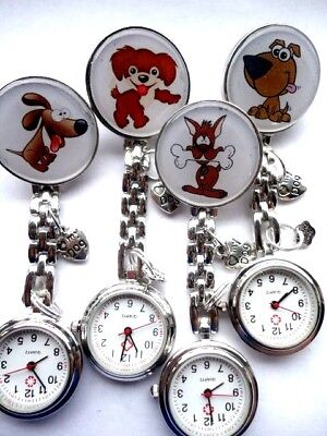 Jewelry & Watches Nurse Watch Student Vet Nurse Training Cat Watch Enamel Cat Charm Clip On Brooch Watches, Parts & Accessories