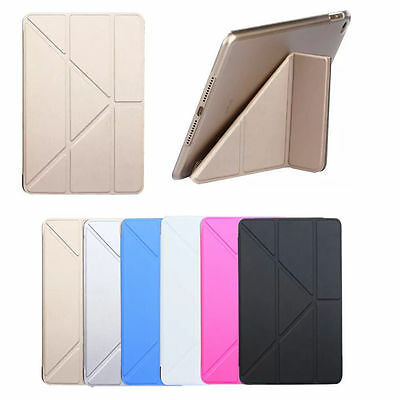 For iPad 2/3/4 Mini 1/2/3/4 Air 1/2 --Leather Magnetic Cover Smart Case Stand