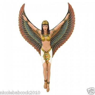 "18.6"" Ancient Egyptian Revival Beautiful Goddess W/ Wings Isis Wall Decor • CAD $75.47"