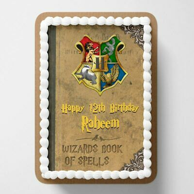 Harry Potter PERSONALISED EDIBLE Icing Cake Wrapper Toppers Round