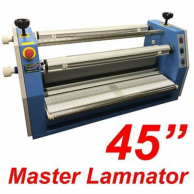 """New 45"""" AK-400 large electric cold roller laminator face mounting overlaminating"""