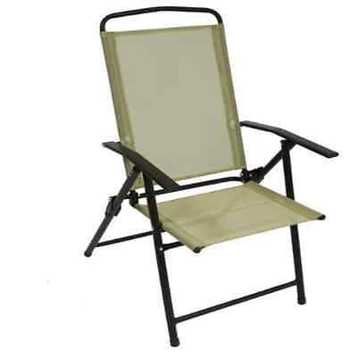 Garden Folding Chair Steel Outdoor Camping Portable Patio Fishing Picnic Seat