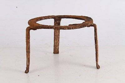 Antique Primitive Old Hand Forged Wrought Iron Fireplace Trivet.