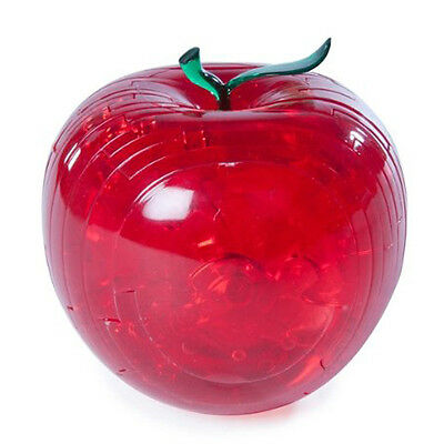 Red Apple 3d Crystal Puzzle Jigsaw Brain Teaser Unique Challenge Mind Game S*