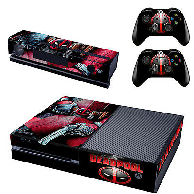 New Deadpool Skin Sticker Vinyl Decal For Xbox ONE Console + Controllers Decals