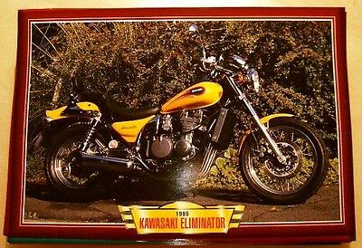 Kawasaki Zl600 Eliminator Zl 600 Classic Motorcycle Bike 1990's Picture 1995
