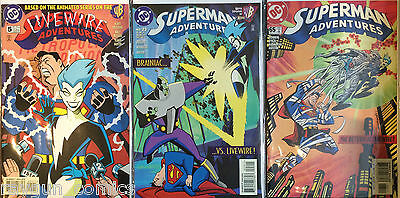 Superman Adventures #5, #23, #65 All Livewire Apps. VF+/NM- 1st Print DC Comics