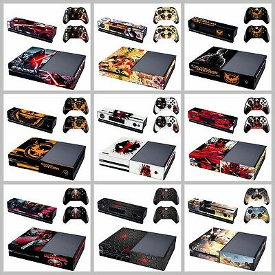Fashion Full Cover Vinyl Decal Skin Sticker For Xbox ONE Console + Controllers