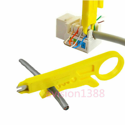 Connection Wire Punch Down Network UTP RJ45 Cat5 Cable Cutter Stripper Plier