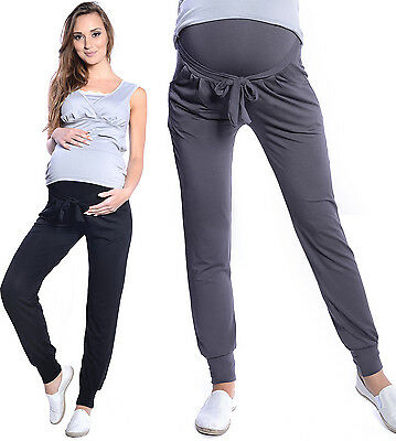 Mija - Relaxed Maternity trousers pants Harem Aladin with extra panel 4012