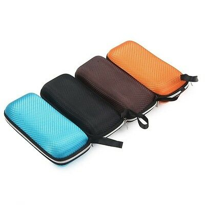 Portable Rectangle Grid Zipper Glasses Case Hard Eyewear Box for Sunglasses