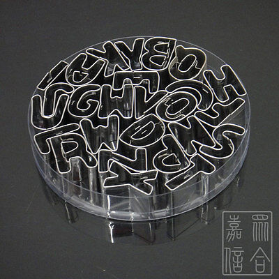 Biscuit Mould Alphabet 26-Letters Fondant Cookie Cake Cutter Kitchen DIY Tool