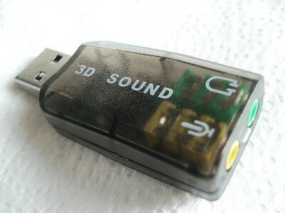 USB External 3D 5.1 Channel Audio PC Sound Card Adapter