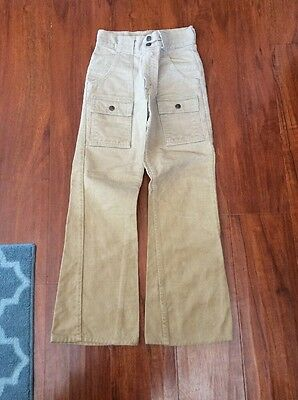 Boys Vintage Levi's Big E  BUSH PANTS Jeans White Tab 8/10