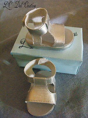 Silver T-Bar Sandals for 18 inch doll American Girl by lcdollcreations