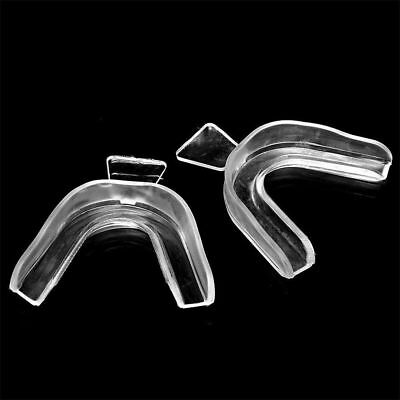 5x Mouth Guards Tray Sports Stop Grinding Dental Teeth Whitening Bleaching Clear
