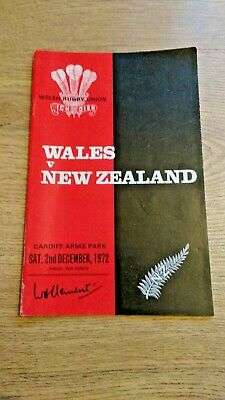 Wales v New Zealand 1972 Signed Rugby Programme