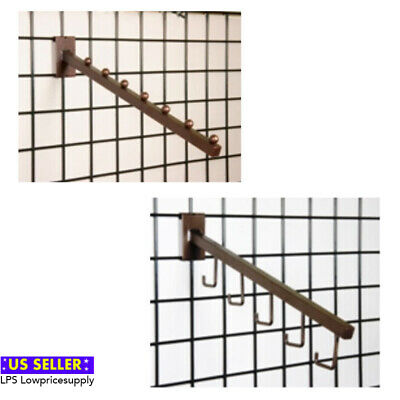 Lot of 5 Antique Bronze Finish Hook Grid Wall Display Arm Tubing WHOLESALE