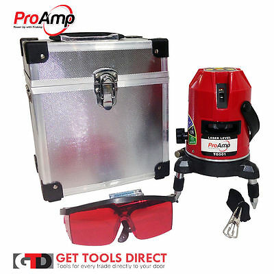 New Proamp 5 Beam Auto Self Levelling Cross Line Laser Level With Plumb Dot