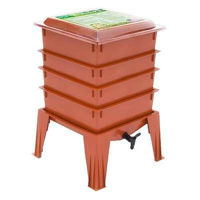 4 Tray WORM Factory® 360 Composter COMPOSTING Organic FARM BinWorm  TERRACOTTA