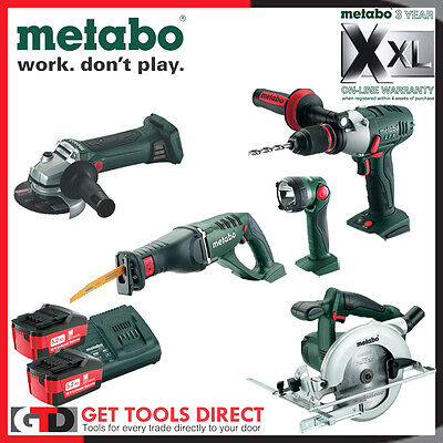 Metabo 18v Li-ion 5 Piece Cordless  Combo Kit MET505 3 Year Warranty