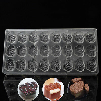 Crown Type Shaped Polycarbonate Cake Chocolate Molds DIY Baking Tray 3D Moulds