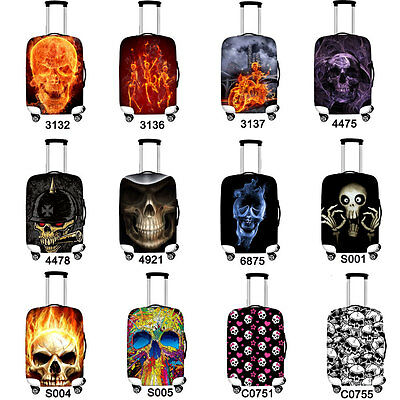 3D Skull Elastic Dust Covers Luggage Cover Suitcase Protector 18 22 24 26 28 30