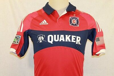 Nwt Adidas Authentic Soccer Chicago Fire 2014 Techfit Jersey Size 6 8 10 12 $150