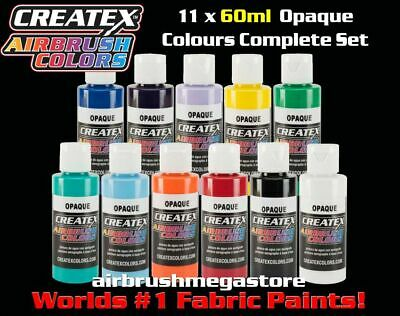 Createx Airbrush Colors 60ml Opaque 11 Colour Set + Free Insured Post