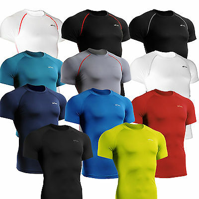 EMFRAA Mens Womens Compression skin tight  shirts Under Base layer Top S~2XL