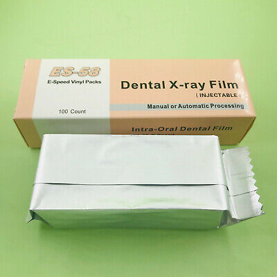 100pcs Dental X-RAY Film Intraoral Periapical E-Speed ES-58 Adult Size 2