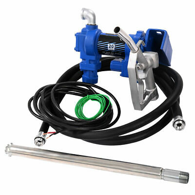 New Gasoline Fuel Transfer Pump 12 Volt DC 20GPM Gas Diesel Kerosene Nozzle Kit