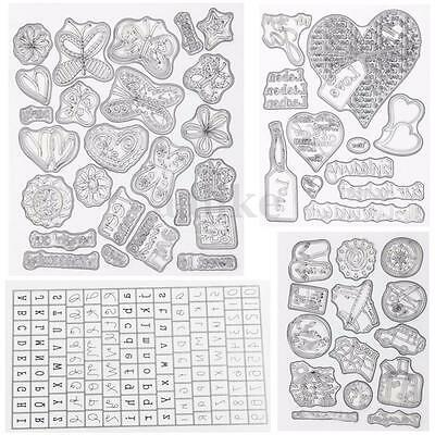 Silicone Rubber Clear Stamp Seal Cling Scrapbooking Diary Christmas Card DIY