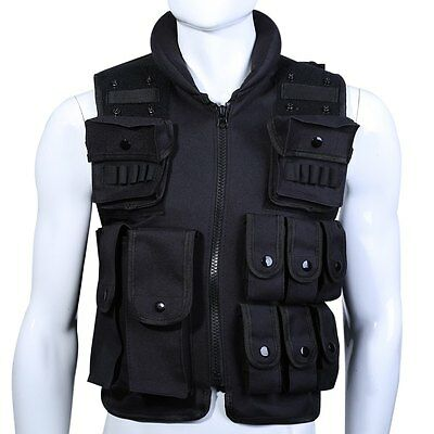 Tactical Military Molle Waistcoat Combat Assault Plate Carrier Vest free size