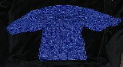 HAND KNITTED BLUE BABY JUMPER 3-6 months