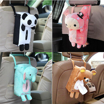 Lovely Car Home Rectangle Tissue Box Cover Holder Paper Box Bathroom Storage AC