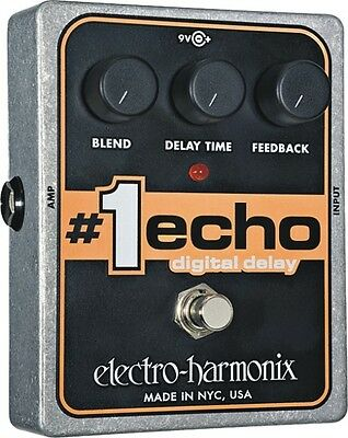 EHX Electro Harmonix #1 ECHO Digital Delay Guitar Effects Pedal
