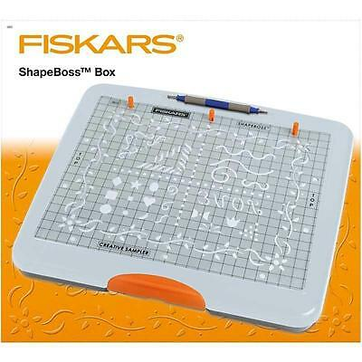 Fiskars ShapeBoss Embossing Cutting Tray Stencil Set Shape Boss