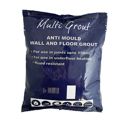 Toolshed Anti-Mould Flexible Wall/Floor Tile Grout 9 Colours 3Kg