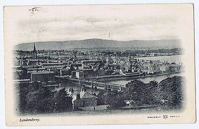 LONDONDERRY View of the City, Reliable Series Postcard Postally Used 1904