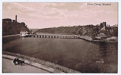 FERRY CARRIG Wexford, Old Postcard by Valentine Unused