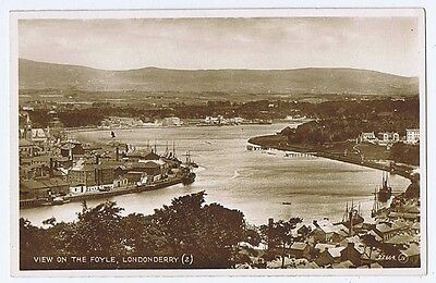 LONDONDERRY View on the Foyle, RP Postcard by Valentine Unused