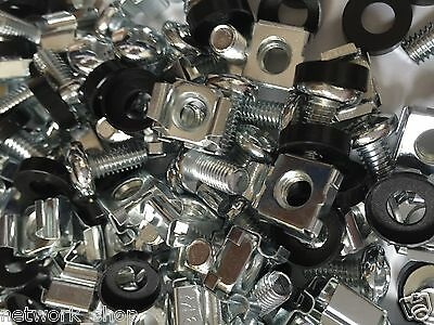 "100 Pack Cage Rack Nuts and Bolts M6 19"" Rack Mounts"