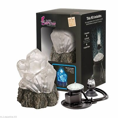 Hydor H2Show Wonders Ornament Full Kit - Crystal With Blue Led & Bubble Maker