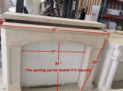 Elegant European Style  Hand Carved  Marble Estate Fireplace Mantel