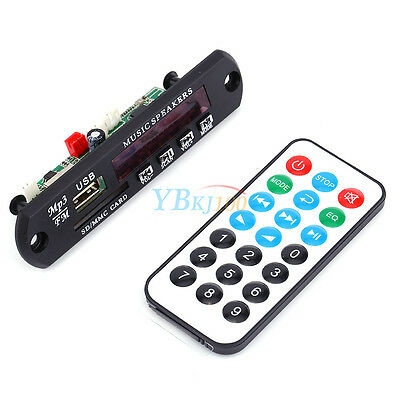 USB TF SD Radio Bluetooth WMA Decoder Board Wireless Remote Control Audio Module