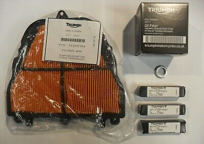 TRIUMPH STREET TRIPLE / R SERVICE KIT with Filters GENUINE PARTS upto VIN 560476