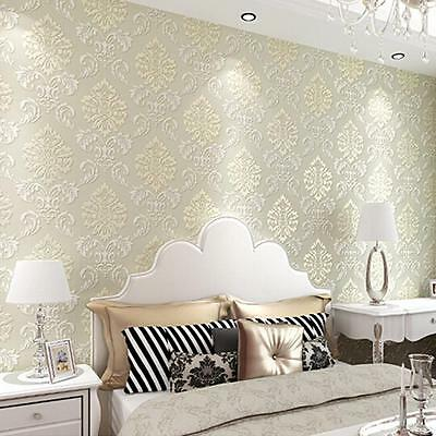 High Quality 4 Colors Choose Victorian Damask/Embossed Textured Wallpaper Roll!